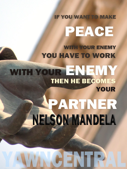 peace quotes partner nelson mandela