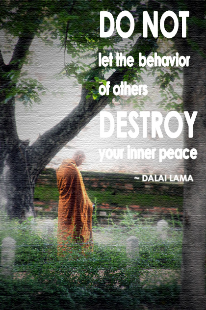 peace quotes do not let behavior or others dalai lama