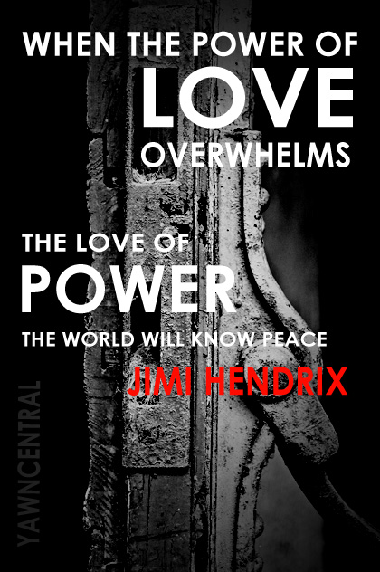 peace quotes power of love jimi hendrix